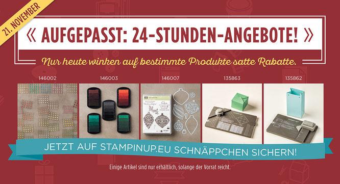 Stampin' Up! Preisspektakel Aktion Stempelkiste 24-Stunden-Angebote