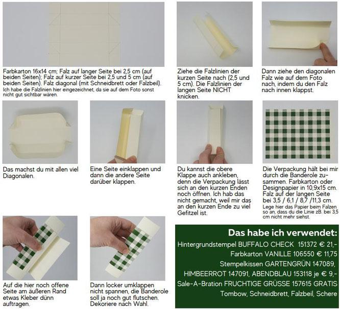 Anleitung, How to, So geht's, Schokoriegel Verpackung, Stampin Up, Stempelkiste