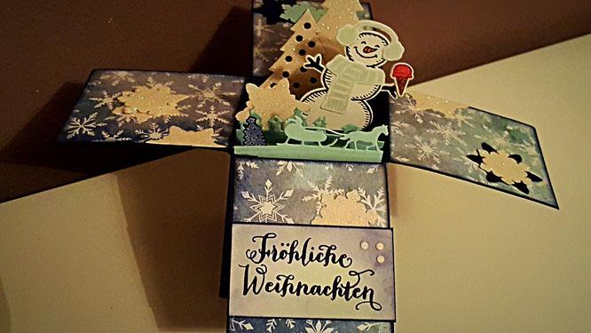 Weihnachten Stampin Up Zuckerstangenzauber Designerpapier Ausgestochen Weihnachtlich Bilderrahmen Fotorahmen Stempelkiste