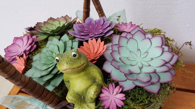 Sukkulenten Stampin' Up! Stempelkiste Blumen inken minzmakrone himbeerrot succulent