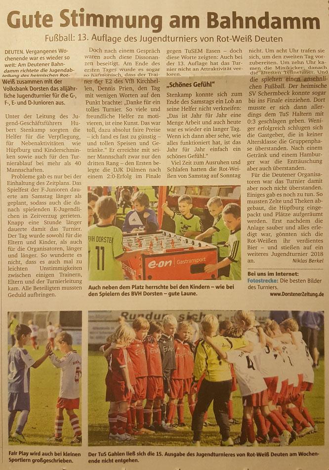 Quelle: Dorstener Zeitung - Mittwoch, 06. Sept. 2017
