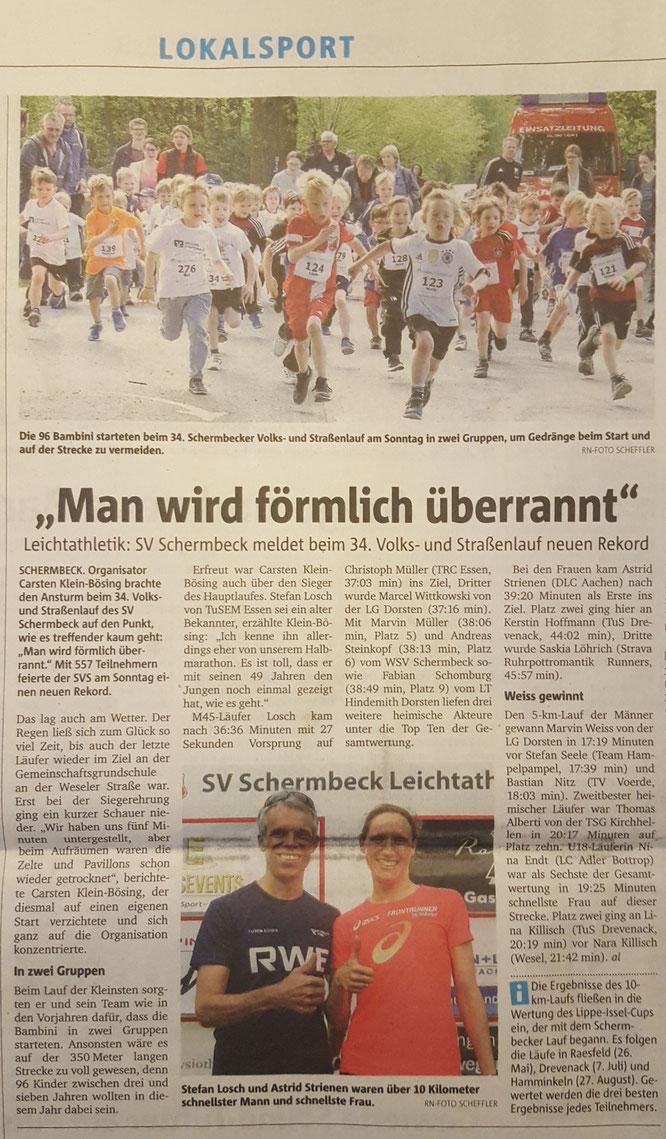 Bericht in der Dorstener Zeitung vom 16. Mai 2017