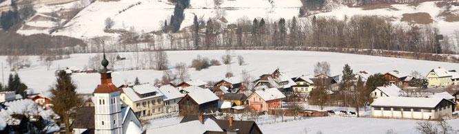 Ortsteil Moosheim mit Blick Richtung Norden