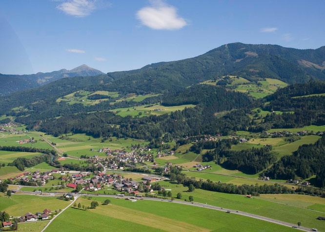 Ortsteil Pruggern mit Blick zum Kochofen