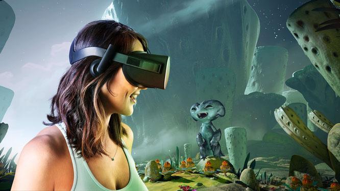Wird 2019 wohl gegen ein dezent verbessertes Modell ausgetauscht, lässt aber noch immer den für den Massenmarkt nötigen Komfort vermissen: die Oculus Rift.