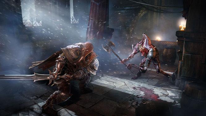 """Für Xbox-One-Besitzer mit Gold-Abo gab es das deutsche Action-Rollenspiel """"Lords of the Fallen"""" schon vor einigen Monaten, jetzt kommen auch PS-Plus-Kunden in den Gratis-Genuss des knallharten Fantasy-Gemetzels."""
