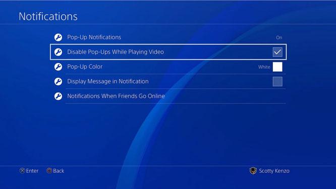 """Bringt unter anderem feiner aufgeschlüsselte Einstell-Optionen für das Aufpoppen von Nachrichten mit: das neue PS4-Firmware-Update """"Nobunaga""""."""