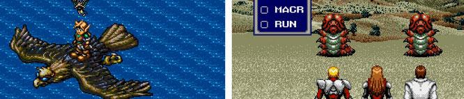 """Nie ganz so erfolgreich wie ihre SNES-Verwandten """"Zelda"""" und """"Final Fantasy"""", aber trotzdem unvergessen: Links isometrischer MD-Cousin Niels bzw. Nigel aus """"Landstalker"""" (links) und die Helden aus """"Phantasy Star 4""""."""