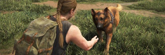 Noch ist sie happy: Abbys tierische Begleiterin Alice, bevor sie von Ellie ermordet wird