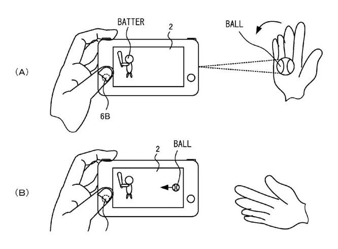Welche geheimen Features verbergen sich noch in Nintendos Switch? Einem US-Patent des Herstellers zufolge gehört eine über Sensoren und Projektionen gesteuerte Objekt-Interaktion dazu (siehe Skizze).