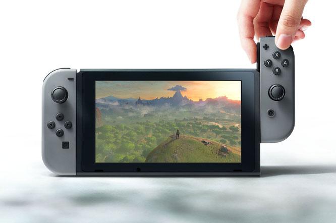 """Verdaut angeblich SD-Karten mit 128 GB Speicher-Kapazität und bekommt vielleicht ein eigenes VR-Headset: Nintendos """"Switch""""."""