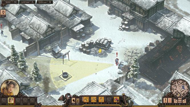 """Schleichen, taktieren, meucheln: Das raffinierte """"Shadow Tactics"""" von Mimimi Productions wurde zum besten deutschen Spiel des Jahres gekürt, außerdem gab es Awards in den Kategorien """"bestes Game-Design"""" und """"bestes PC/Konsolen-Spiel""""."""