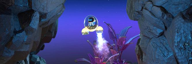 """Spielt beim Steuern einer Rakete in """"Astro's Playroom"""" eine entscheidende Rolle: der Widerstand der adaptiven Schulter-Trigger"""