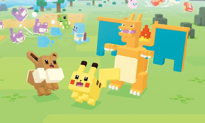 """Wer nicht bis Ende des Jahres warten will, kann mit """"Pokémon Quest"""" schon jetzt auf Monsterjagd gehen. Das Free-to-Play-Spiel steht für Switch sowie iOS- und Android-Smartphones zum Download bereit."""