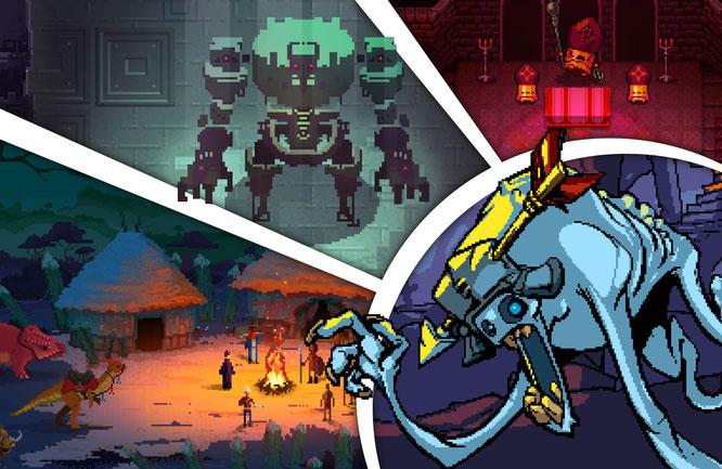 abgebildete Spiele: Curious Expedition, Hyper Light Drifter, Enter the Gungeon, Crypt of the Necrodancer