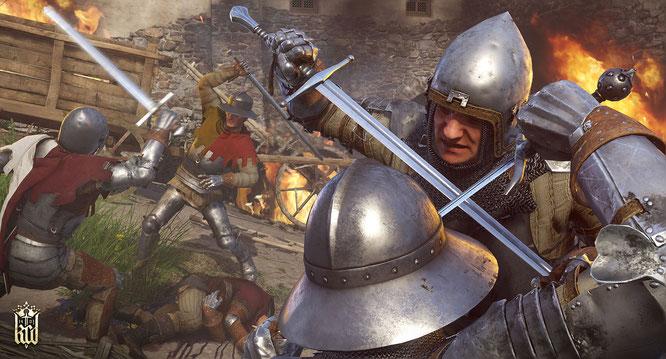 Bei Konfrontationen setzt das Spiel auf ein Wechselspiel aus Paraden, Hieben und Stichen. Die werden möglichst überraschend, aus verschiedenen Richtungen und auch mal als Kombination eingesetzt.