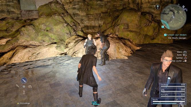 """Draußen hui, innen pfui: Hässlicher Texturmatsch und schroffe Kanten in den Dungeons. In """"FF 15"""" treffen zwei Technik-Generation aufeinander –die Ära PS4 und die Ära PS3  (mit einem zarten Hauch von PS2)."""