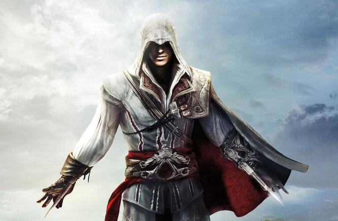 Darf bald wieder Charme, Muskeln und Messer spielen lassen: Ezio Auditore da Firenze. Das HD-Remaster seiner drei klassischen Abenteuer erscheint am 15. November für PS4 und Xbox One.