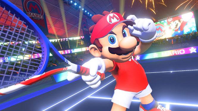 """Marios erstes Switch-Spiel auf dem Tennis-Court: """"Mario Tennis Aces"""" kommt am 22. Juni."""