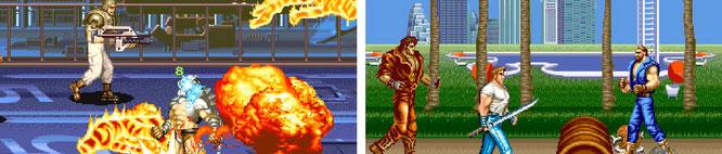 """Gehören beide zu den Highlights der Spiele-Kollektion: die Horizontal-Prügler """"Alien vs. Predaor"""" (links) und """"Final Fight""""."""