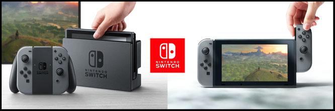 """Also doch: Nintendos """"Switch""""entpuppt sich tatsächlich als Mischkonzept aus stationärer und mobiler Konsole. Eine Docking-Station für den TV-Anschluss, ein Tablet und ein demontierbarer Controller machen's möglich."""