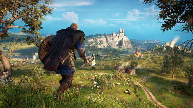 """Profitieren besonders vom Performance-Plus und der schnellen SSD: Open-World-Games wie """"Assassin's Creed: Valhalla"""""""