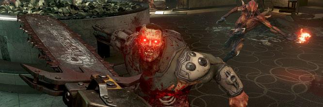 """Der Doom-Slayer (im Bild: """"Doom Eternal"""") lässt seine Kettensäge künftig nur noch für Microsoft knattern – denn der IT-Riese hat sich die id- und Bethesda-Mutter Zenimax einverleibt."""