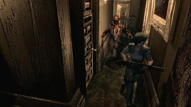 """Das PS4-Highlight, über das sich """"PlayStation Plus""""-Abonnenten im Oktober freuen dürfen: Die Remaster-Fassung von Capcoms Grusel-Klassiker """"Resident Evil""""."""