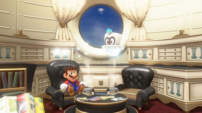 """Mario und Freund Cappy lassen es sich gut gehen: Ihr gemeinsames Switch-Abenteuer """"Super Mario Odyssey"""" hat sich innerhalb von drei Tagen zwei Millionen mal verkauft."""