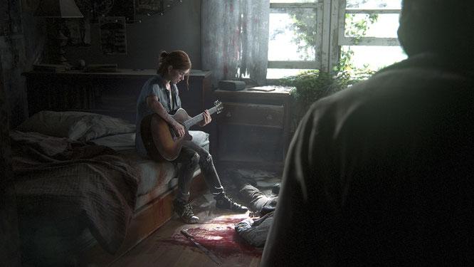 """Hat jetzt noch ein bisschen Extra-Zeit, um auf ihrer Gitarre zu üben: """"Last of Us 2""""-Heldin Ellie"""