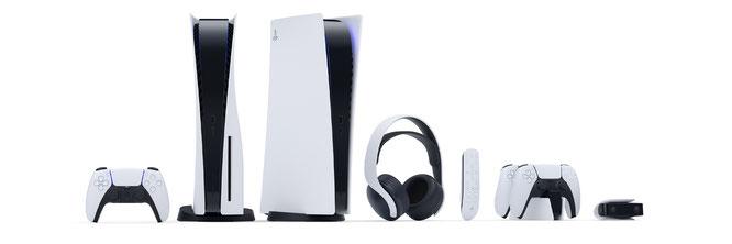 DualSense-Controller, Konsole, 3D-Kopfhörer, Controller im Lade-Dock und PS5-Kamera: Sonys Next-Gen-Paket