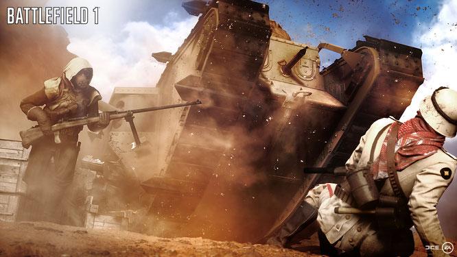 """Daten-Attacke statt Panzer-Offensive: Die Open-Beta zu Electronic Arts' Ego-Ballerei """"Battlefield 1"""" wurde unter anderem von Hackern sabotiert."""