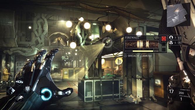 """Raffiniertes Rollenspiel-Gameplay, Cyber-Augmentierungen und jede Menge Hacks – das gibt's jetzt nicht mehr nur im Basisspiel """"Deus Ex: Mankind Divided"""", sondern auch im ersten kostenpflichtigen Add-On """"Systemspaltung""""."""