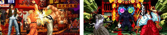 """Bilden das Herzstück des vorinstallierten Games-Palette: Spielhallen-Klassiker wie die """"King of Fighters""""-Reihe oder """"mehrere Samurai Shodown""""-Spiele."""