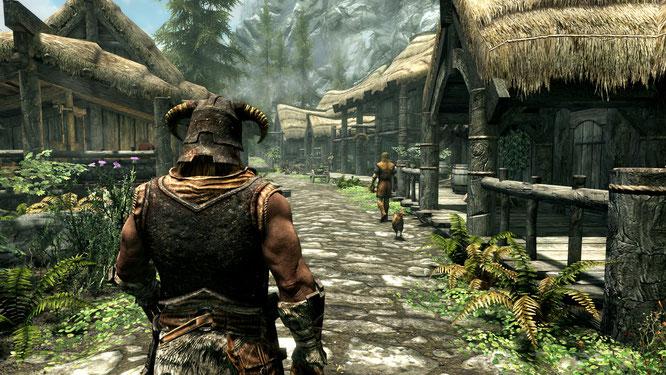 """Noch schöner, aber auch wesentlich Hardware-hungriger als 2011: Die """"Skyrim Special Edition für PC."""