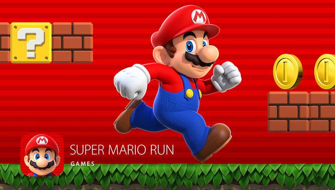 """Sensation auf der Apple-Keynote: Tim Cook und Shigeru Miyamoto kündigen """"Super Mario Run"""" an."""
