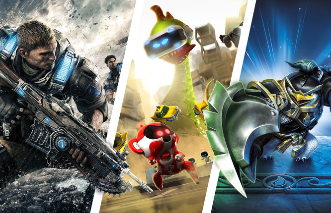 "Spiele: ""Gears of War 4"", ""The Playroom VR"", ""Skylanders Imaginators""; Composing: Robert Bannert"