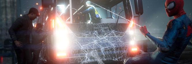 """Sehen richtig schön klebrig aus: die Netze von Nachwuchs-Spinne Miles Morales im gleichnamigen """"Spider-Man""""-Abenteuer von Insomniac"""