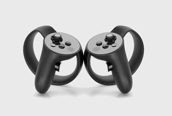 Erfassen die Bewegungen des Users und kosten wohl um die 200 Euro: Die Touch-Controller für Oculus Rift.