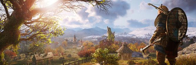 """Kriegt den Spagat zwischen Open-World-Spielstruktur und -Erzählung hoffentlich besser hin als seine Vorgänger: """"AC Valhalla"""""""