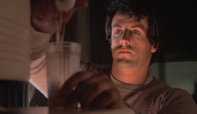 "Still of Sylvester Stallone in ""Rocky"" (1985)"