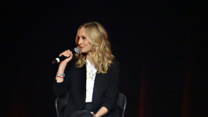 Candice King during her panel