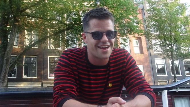 Max Carver during the interview in Amsterdam