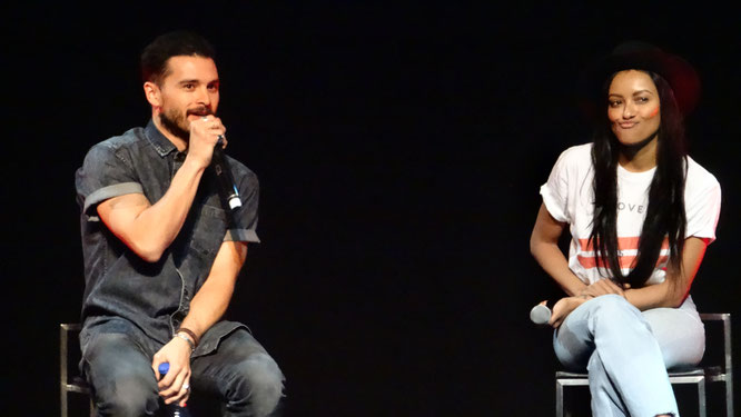 Michael Malarkey and Kat Graham at Bloody Night Con Europe 2017