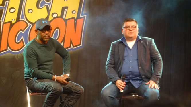 Maurice Wolbert and Lennie James at Dutch Comic Con