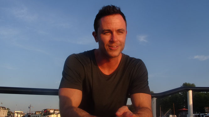 Actor Ryan Kelley during the interview in Amsterdam