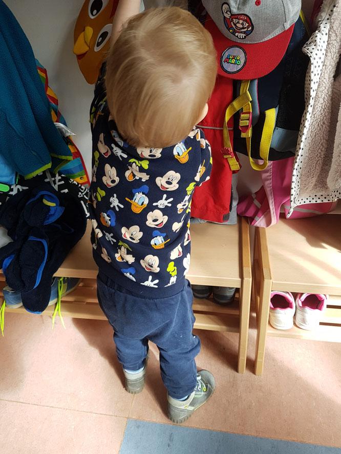 Kita-Kind während der Eingewöhnung kurz vor der Verabschiedung. Tagebuch auf Mama-Blog Patschehand.de aus Berlin-Friedrichshain.