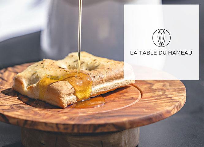 Menu spécial huile d'olive à la Table du Hameau, restaurant gastronomique à Paradou