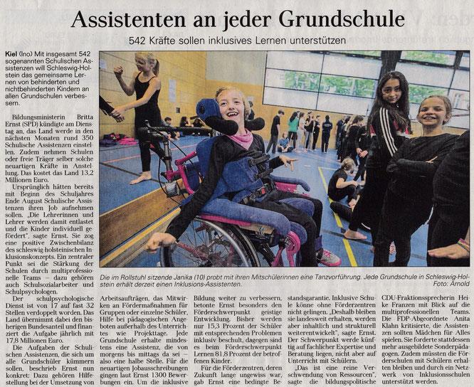 Schulassistenten für Grundschulen (DLZ 06.01.2016)