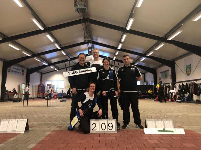 Unsere Ligaschützen erreichten 2019 in Langenpreising einen hervorragenden 3. Platz